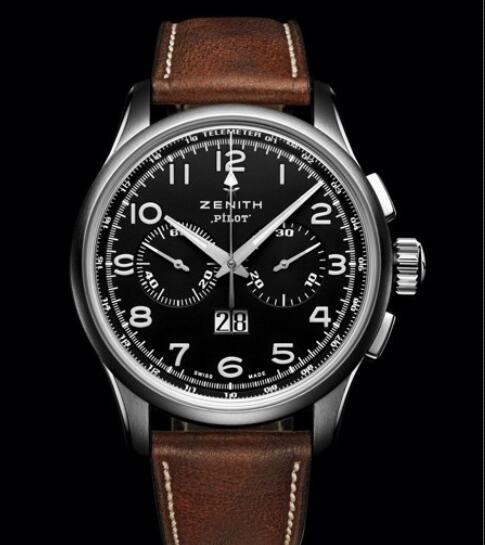 Replica Watch Zenith Pilot Big Date Special 03.2410.4010/21.C722 Steel - Calfskin Leather Strap