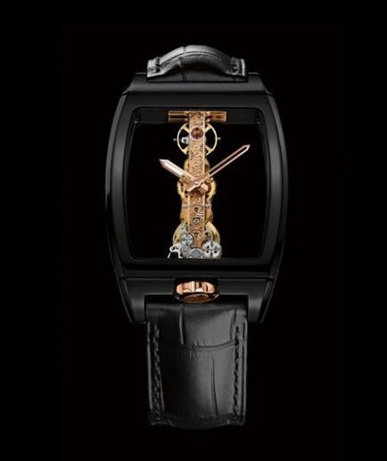 Corum Golden Bridge Ceramic Replica Watch 113.161.15/0001 0000R Black Ceramic - Alligator Strap