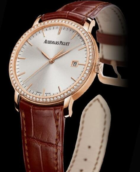 Replica Audemars Piguet Watch Jules Audemars Automatique 15171OR.ZZ.A088CR.01 Pink Gold - Diamonds - Silver-toned Dial