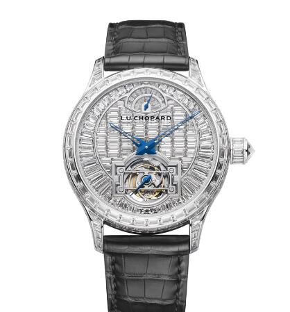 Chopard L.U.C Watch Replica Review L.U.C QUATTRO TOURBILLON 43 MM MANUAL WHITE GOLD DIAMONDS 171933-1001