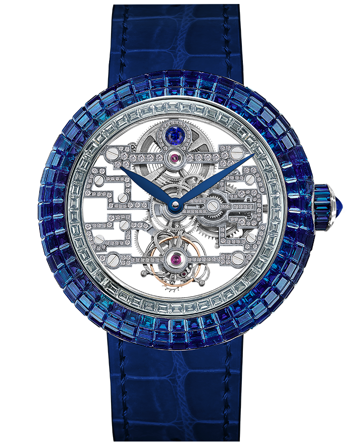Jacob & Co. Brilliant Art Deco Blue Sapphire Watch BT545.30.BB.BB.A Jacob and Co Replica Watch