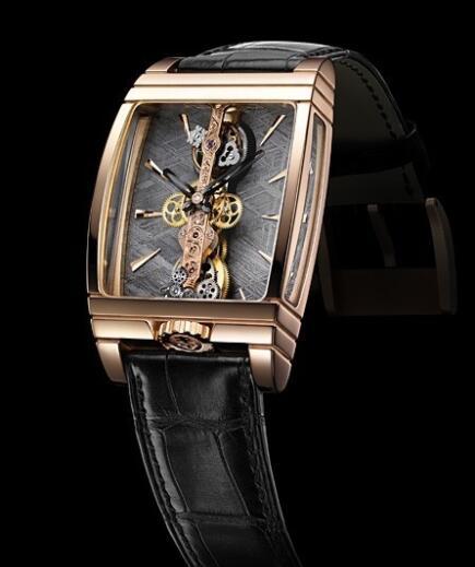 Corum Golden Brigde Tourbillon Replica Watch 213.100.55/0001 PX02 Red Gold - Meteorite Dial