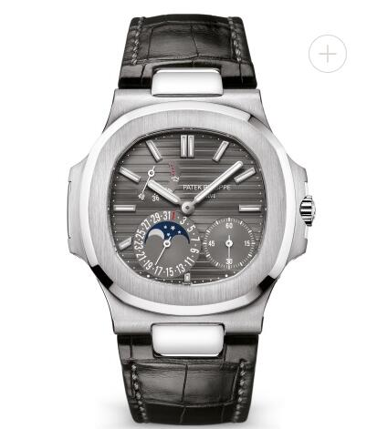 Patek Philippe Nautilus Watches Cheap Prices for Sale Replica Nautilus Moon Phase White Gold Watch 5712G-001