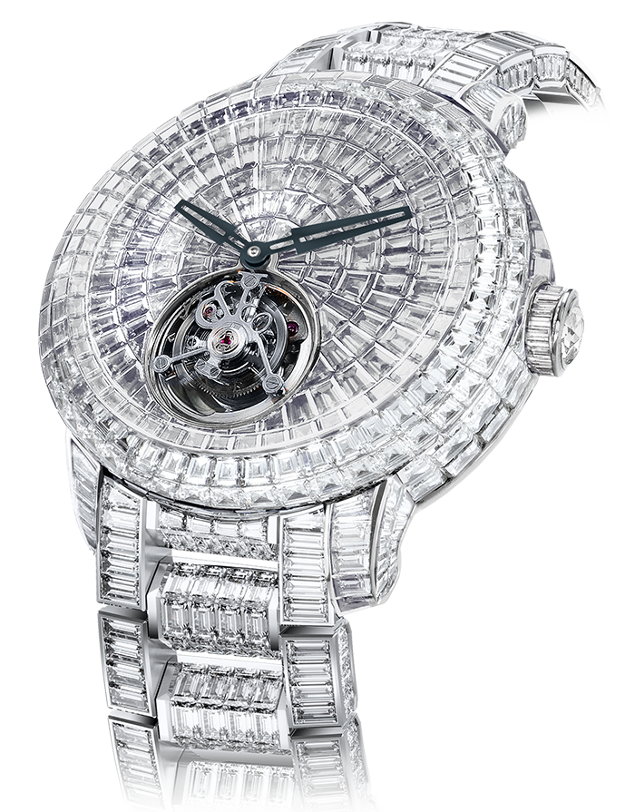 Jacob & Co. Caviar Tourbillon Diamond Bracelet Watch CV201.30.BD.BD.A30BA Jacob and Co Replica Watch