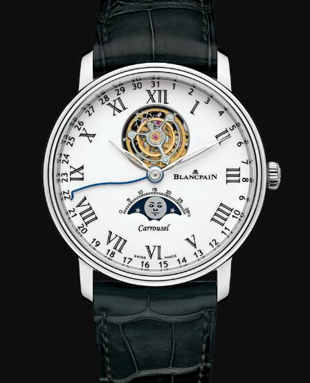 Blancpain Villeret Watch Review Carrousel Phases de Lune Replica Watch 6622L 3431 55B