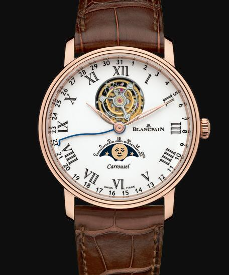 Blancpain Villeret Watch Review Carrousel Phases de Lune Replica Watch 6622L 3631 55B
