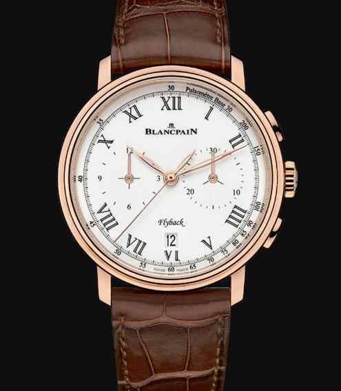 Blancpain Villeret Watch Price Review Chronographe Flyback Pulsomètre Replica Watch 6680F 3631 55B