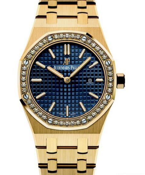 Replica watch Audemars Piguet Royal OAK Quartz 67651BA.ZZ.1261BA.02 Yellow Gold - Diamonds - Yellow Gold