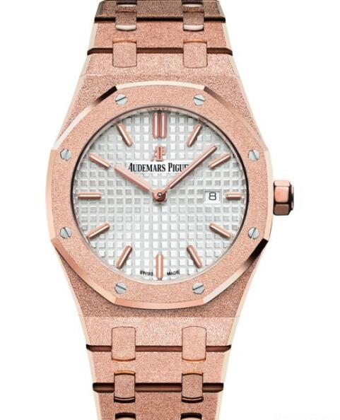 Replica watch Audemars Piguet Royal Oak Frosted Gold 67653OR.GG.1263OR.01 Pink Gold