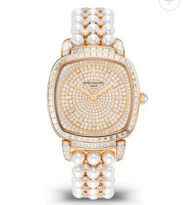Cheapest Patek Philippe Gondolo Haute Joaillerie Diamond & Pearl Replica Watch 7042-100R-010