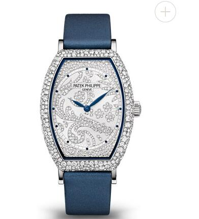 Cheapest Patek Philippe Gondolo Diamond & White Gold Dial Ladies Replica Watch 7099G-001