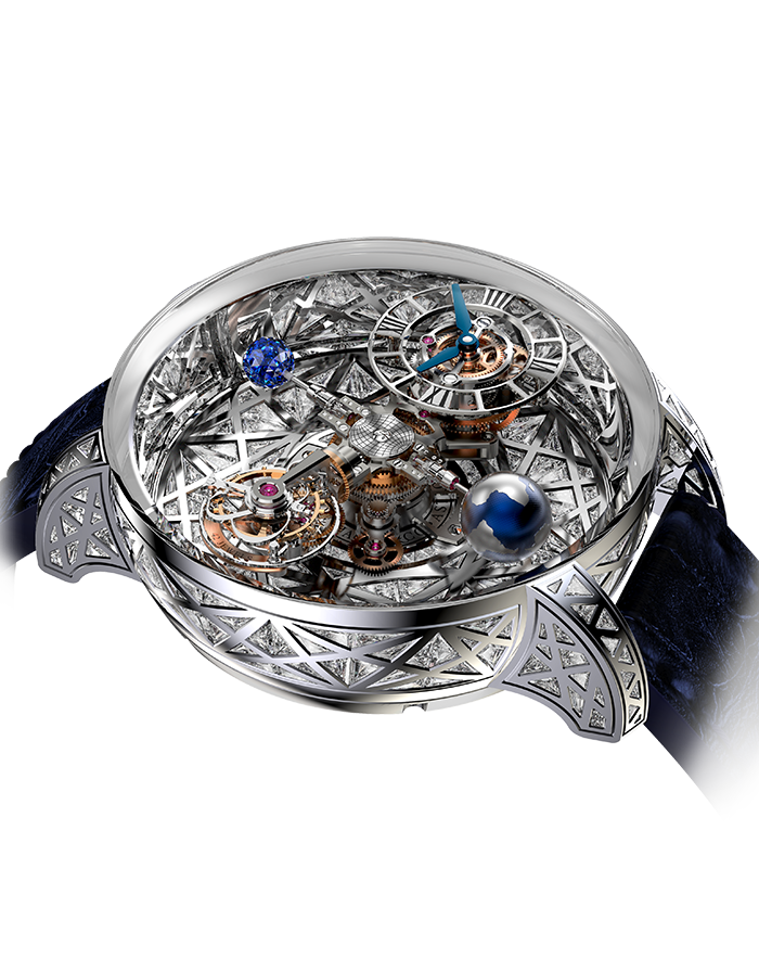 Jacob & Co. Astronomia Meteorite Triangle Diamonds Watch Replica AT800.30.HD.HD.A Jacob and Co Watch Price