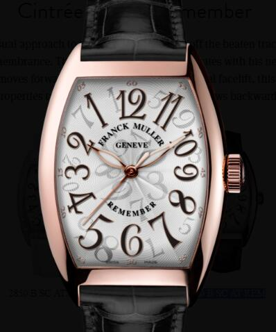 Buy Franck Muller Cintrée Curvex Remember Replica Watch for sale Cheap Price 7880 B SC AT REM
