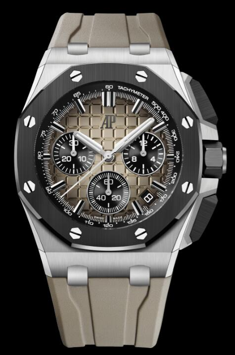 Replica AP Watch Audemars Piguet Royal Oak Offshore 43 Stainless Steel Ceramic Taupe 26420SO.OO.A600CA.01
