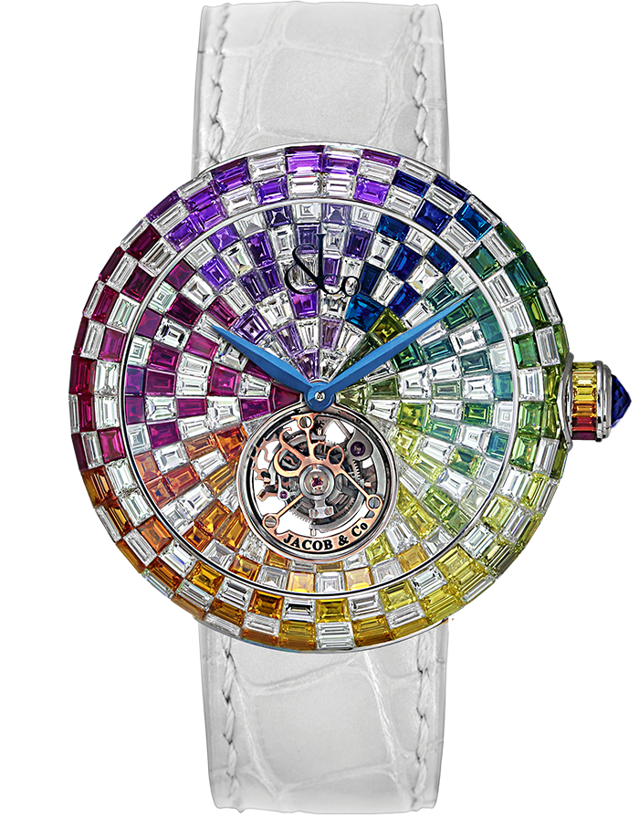 Jacob & Co. BRILLIANT FLYING TOURBILLON ARLEQUINO Watch BT543.30.HX.HX.B Jacob and Co Replica Watch