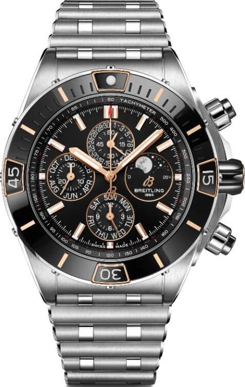 Replica Breitling SUPER CHRONOMAT FOUR YEAR CALENDAR TWO TONE I19320251B1A1 Watch