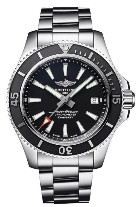 Replica Breitling Superocean 42 Stainless Steel Black Japan A17366D71B2A1 Men Watch