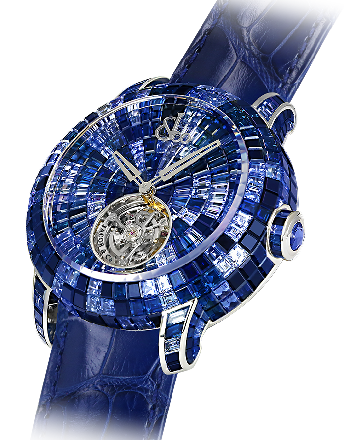 Jacob & Co. CAVIAR TOURBILLON CAMO BLUE Watch CV201.30.CB.CB.A Jacob and Co Replica Watch