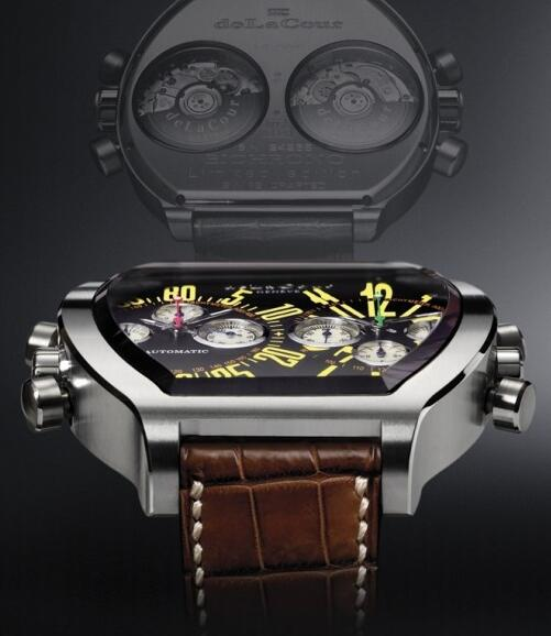 Replica DeLaCour Bichrono SII Yellow Watch