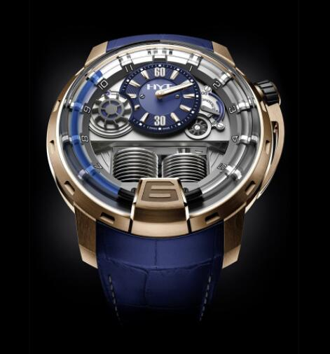 Replica HYT H1 GOLD BLUE 148-PG-32-BF-AA Watch