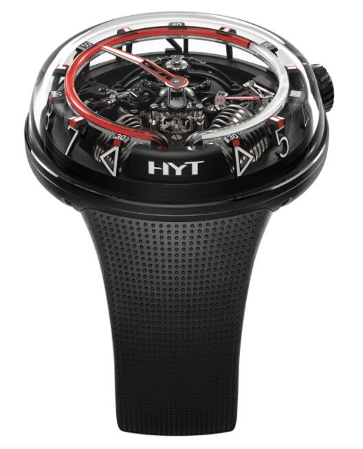 Replica HYT H²0 Black DLC Red 251-AD-461-RF-RU Watch