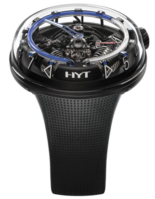 Replica HYT H²0 Black DLC Blue 251-AD-462-BF-RU Watch