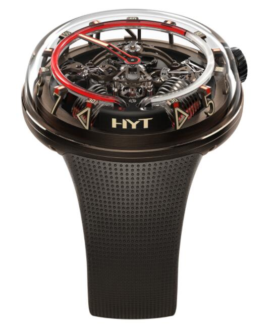 Replica HYT H²0 Brown 251-AD-463-RF-RU Watch
