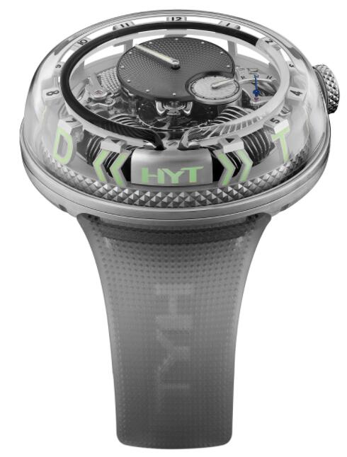 Replica HYT H²0 Time Is Fluid Black 251-AD-464-BF-RU Watch