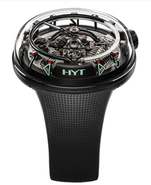 Replica HYT H²0 Time Is Fluid All Black 251-AD-468-RF-RU Watch