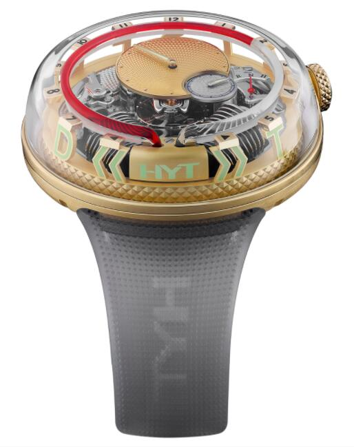 Replica HYT H²0 Time Is Fluid Red 251-GD-465-RF-RU Watch