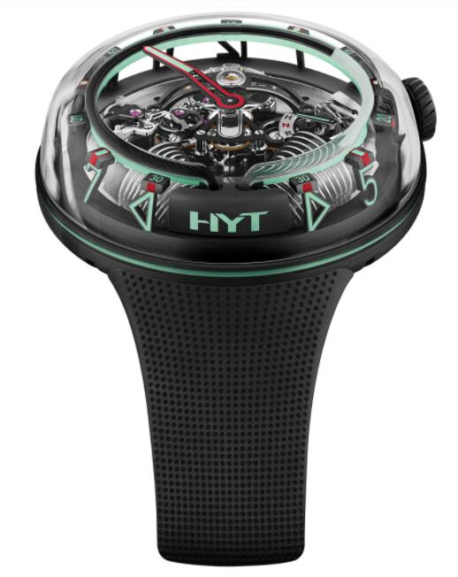Replica HYT H²0 Mexico Green H02346 Watch