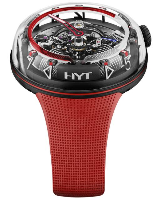 Replica HYT H²0 Red Fluid H02390 Watch