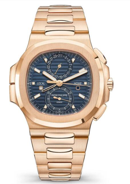 Cheapest Patek Philippe Watch Price Replica Ref. 5990/1R Nautilus Travel Time Chronograph 5990/1R-001 Pink Gold