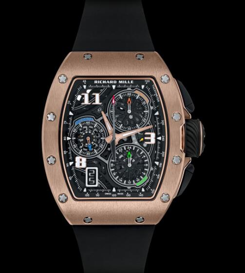 Replica Richard Mille RM 72-01 Lifestyle In-House Chronograph Red Gold Watch