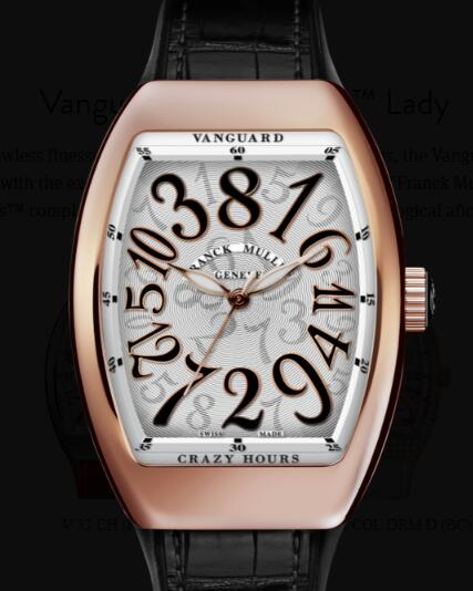 Buy Franck Muller Vanguard Crazy Hours Lady Replica Watch for sale Cheap Price V 32 CH (NR)