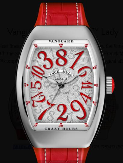 Buy Franck Muller Vanguard Crazy Hours Lady Replica Watch for sale Cheap Price V 32 CH (RG)