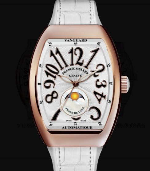 Franck Muller Vanguard Lady Moonphase Replica Watch Cheap Price V 32 SC FO L NR (BC) 5N