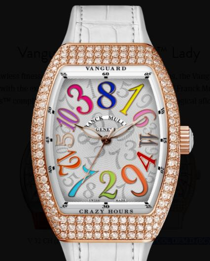 Buy Franck Muller Vanguard Crazy Hours Lady Replica Watch for sale Cheap Price V 35 CH COL DRM D (BC)