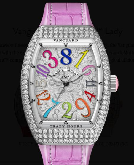 Buy Franck Muller Vanguard Crazy Hours Lady Replica Watch for sale Cheap Price V 35 CH COL DRM D (RS)