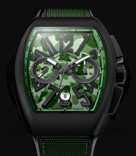 Franck Muller Vanguard Camouflage Review Replica Watch Cheap Price V 45 CC DT CAMOU NR MC (VE)