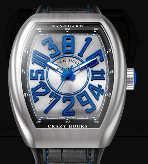 Buy Franck Muller Vanguard Crazy Hours Replica Watch for sale Cheap Price V 45 CH BR (BL)