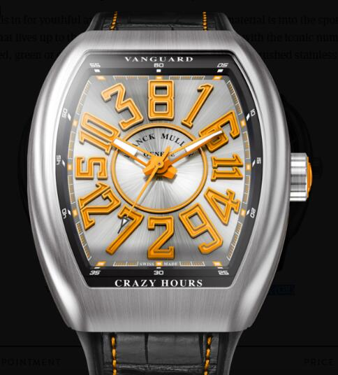 Buy Franck Muller Vanguard Crazy Hours Replica Watch for sale Cheap Price V 45 CH BR (OR)