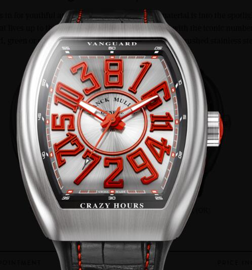 Buy Franck Muller Vanguard Crazy Hours Replica Watch for sale Cheap Price V 45 CH BR (RG)