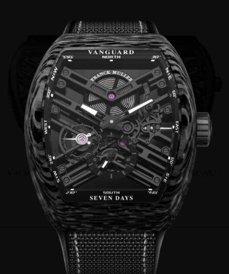 Franck Muller Vanguard Skeleton Review Replica Watch Cheap Price V 45 S6 SQT CARBONE NR (NR)