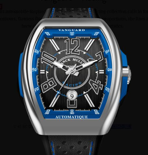 Buy Franck Muller Vanguard Racing Classical Replica Watch for sale Cheap Price V 45 SC DT RACING (BL)