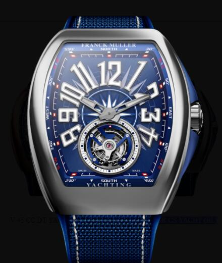 Franck Muller Vanguard Yachting Review Replica Watch Cheap Price V 45 T GR CS YACHT (BL)
