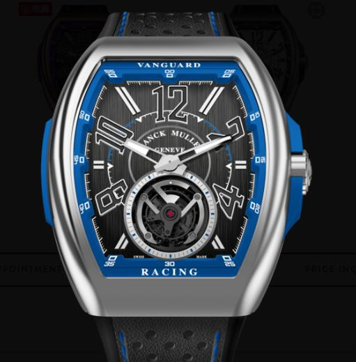 Buy Franck Muller Vanguard Racing Tourbillon Replica Watch for sale Cheap Price V 45 T RACING (BL)