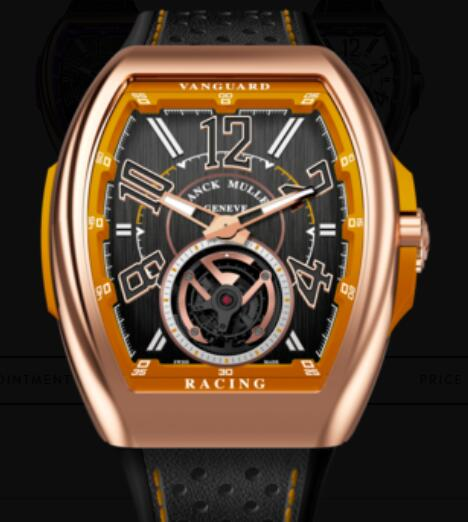 Buy Franck Muller Vanguard Racing Tourbillon Replica Watch for sale Cheap Price V 45 T RACING (OR)